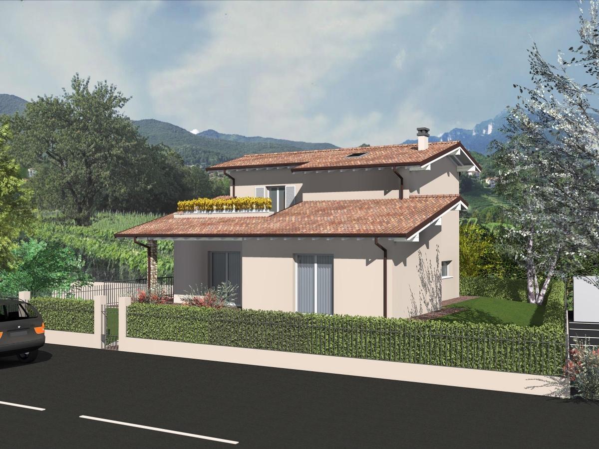Progetti villette piano terra villa stile misto with for Piccole planimetrie della cabina avvolgono il portico